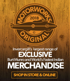 Purchase from a great range of Burt Munro themed merchandise in our on-line store